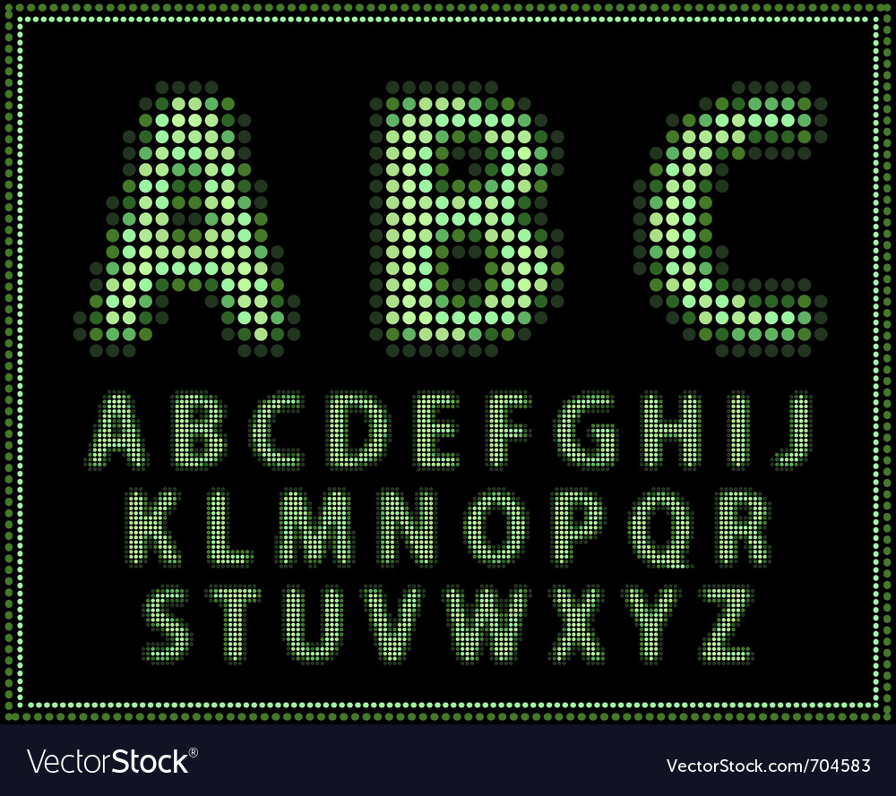 Halftone alphabet full set vector | Price: 1 Credit (USD $1)