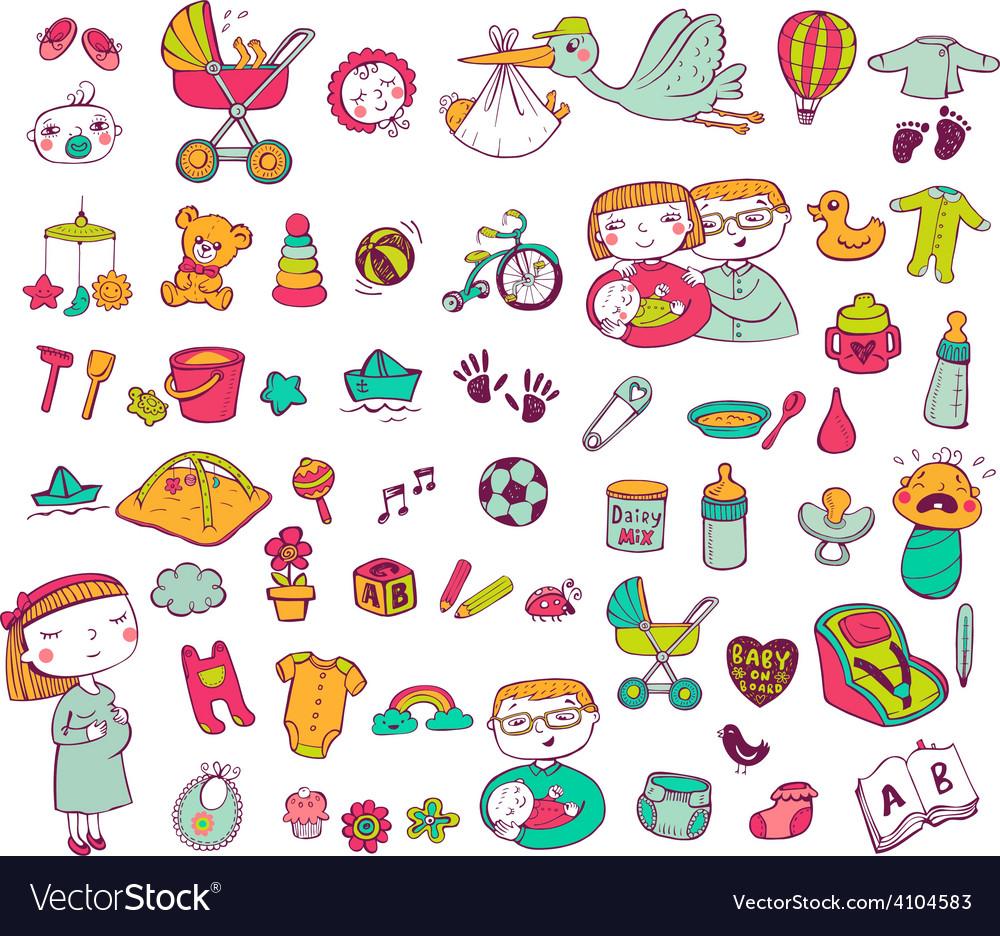 Infant icon set vector | Price: 1 Credit (USD $1)