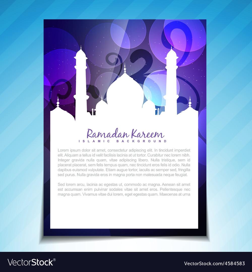 Muslim festival design vector | Price: 1 Credit (USD $1)