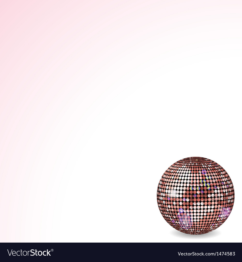 Reflective disco ball pink vector | Price: 1 Credit (USD $1)