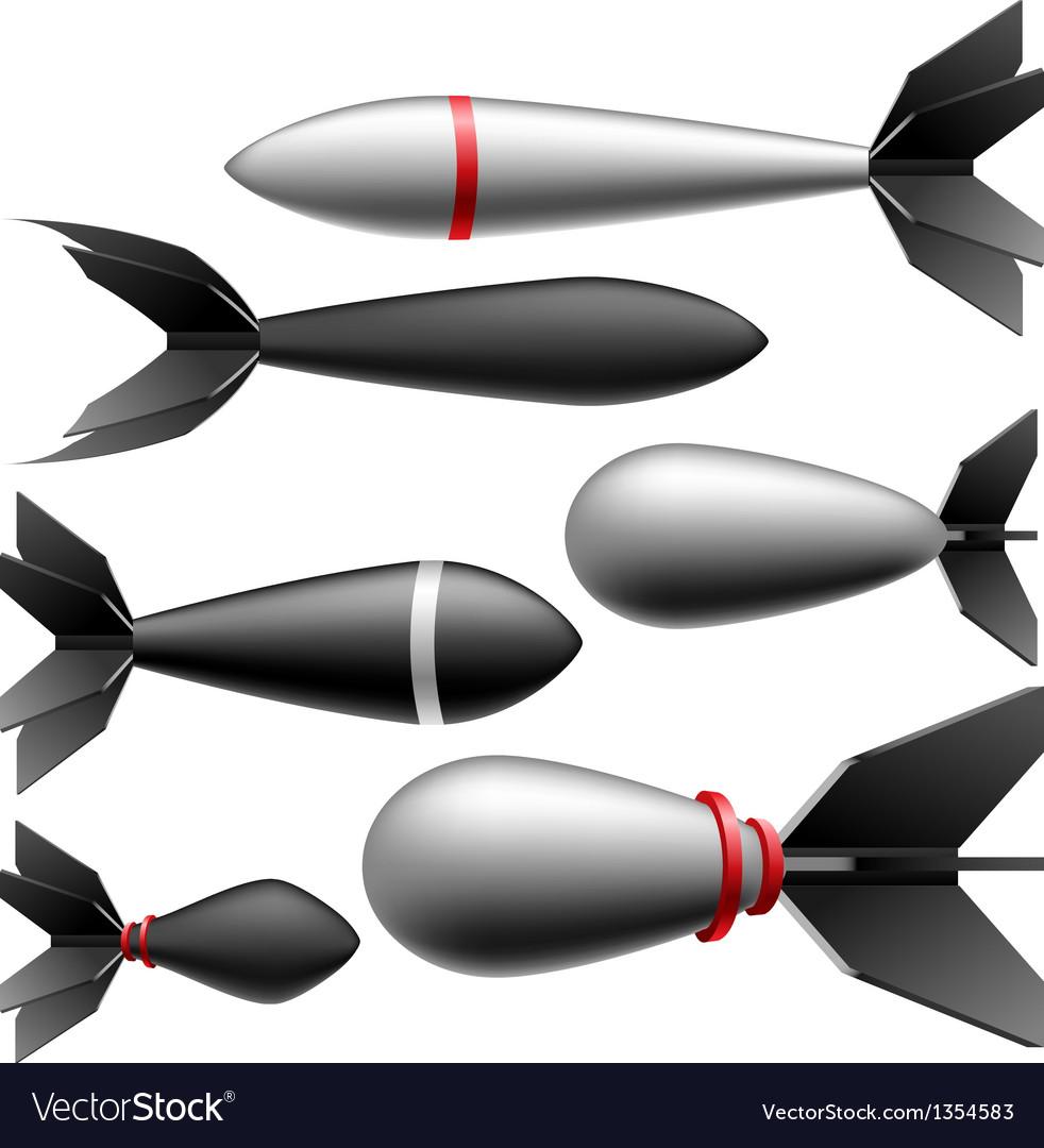 Rocket bomb set vector | Price: 1 Credit (USD $1)