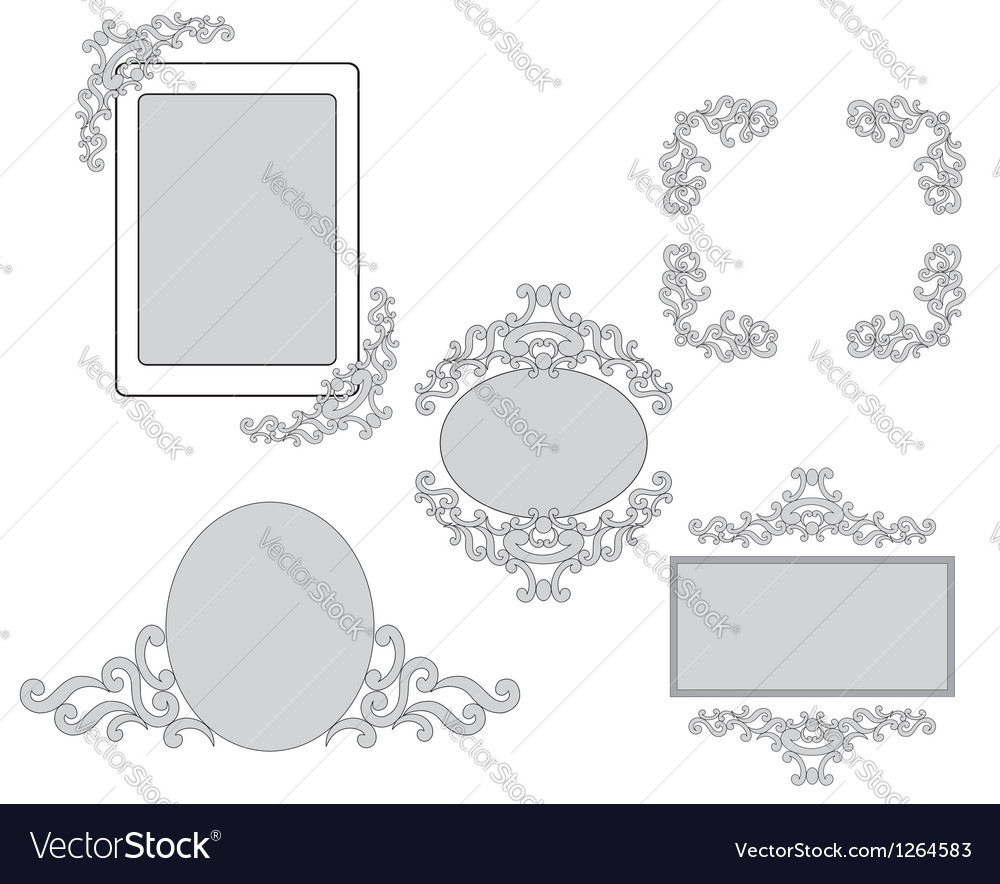 Set - tracery and frames for design vector | Price: 1 Credit (USD $1)