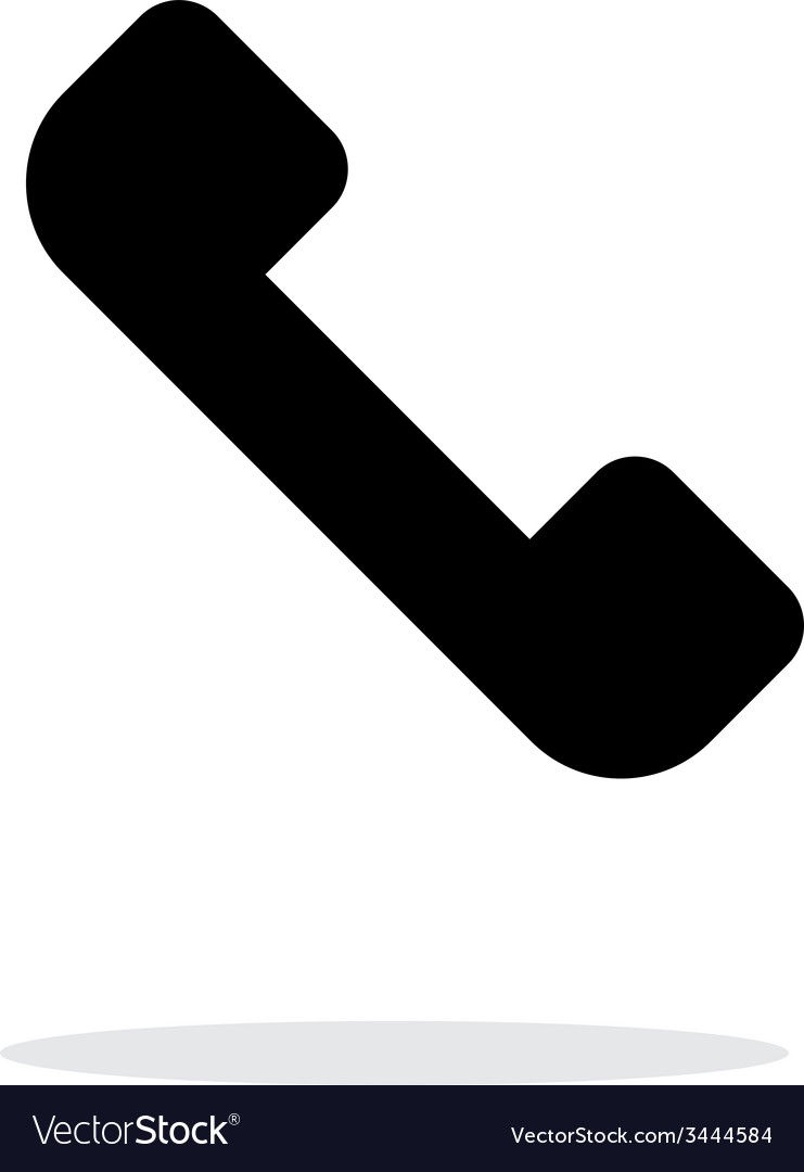 Answer the call telephone receiver icon on white vector | Price: 1 Credit (USD $1)