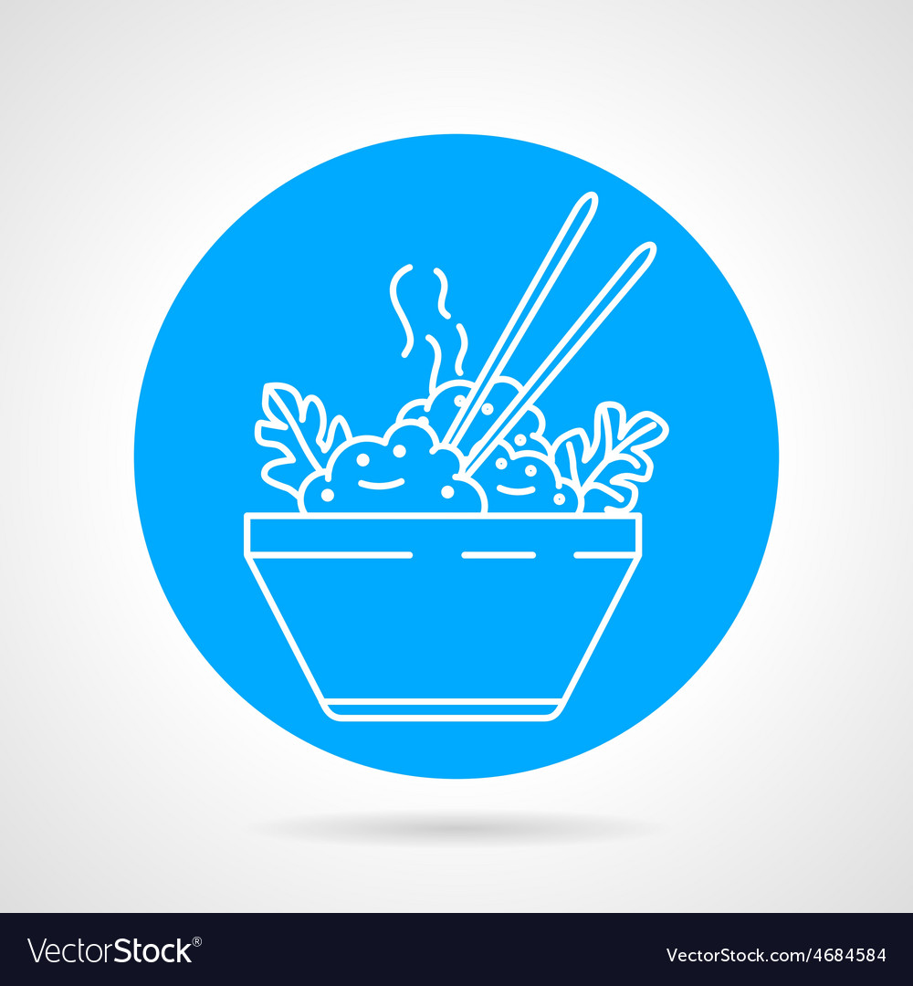Boiled rice round icon vector | Price: 1 Credit (USD $1)