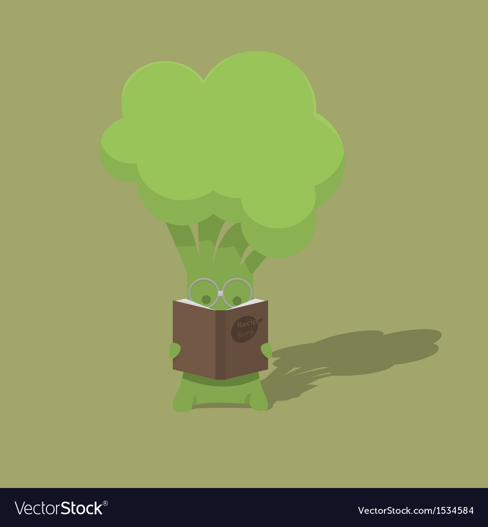 Broccoli student vector | Price: 1 Credit (USD $1)