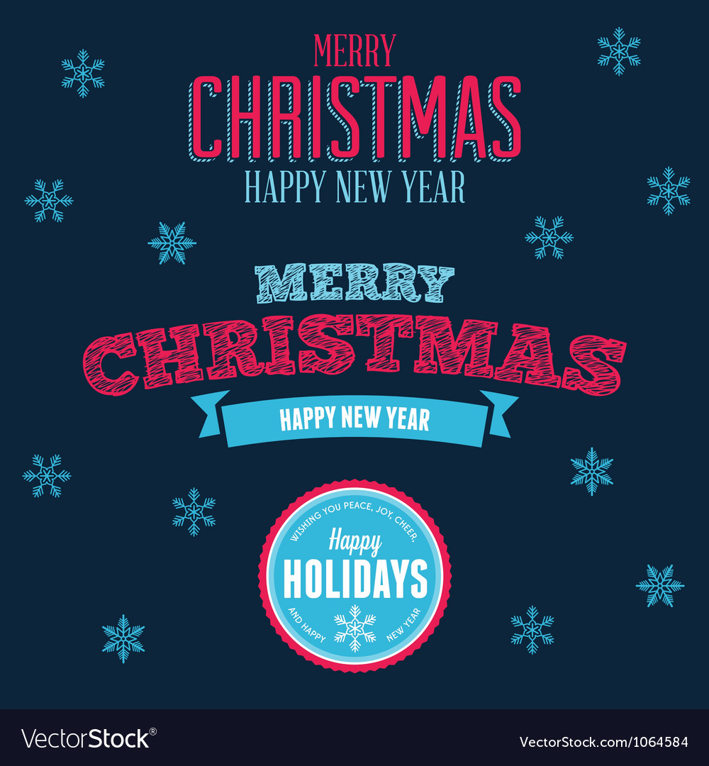 Christmas text design elements vector | Price: 1 Credit (USD $1)