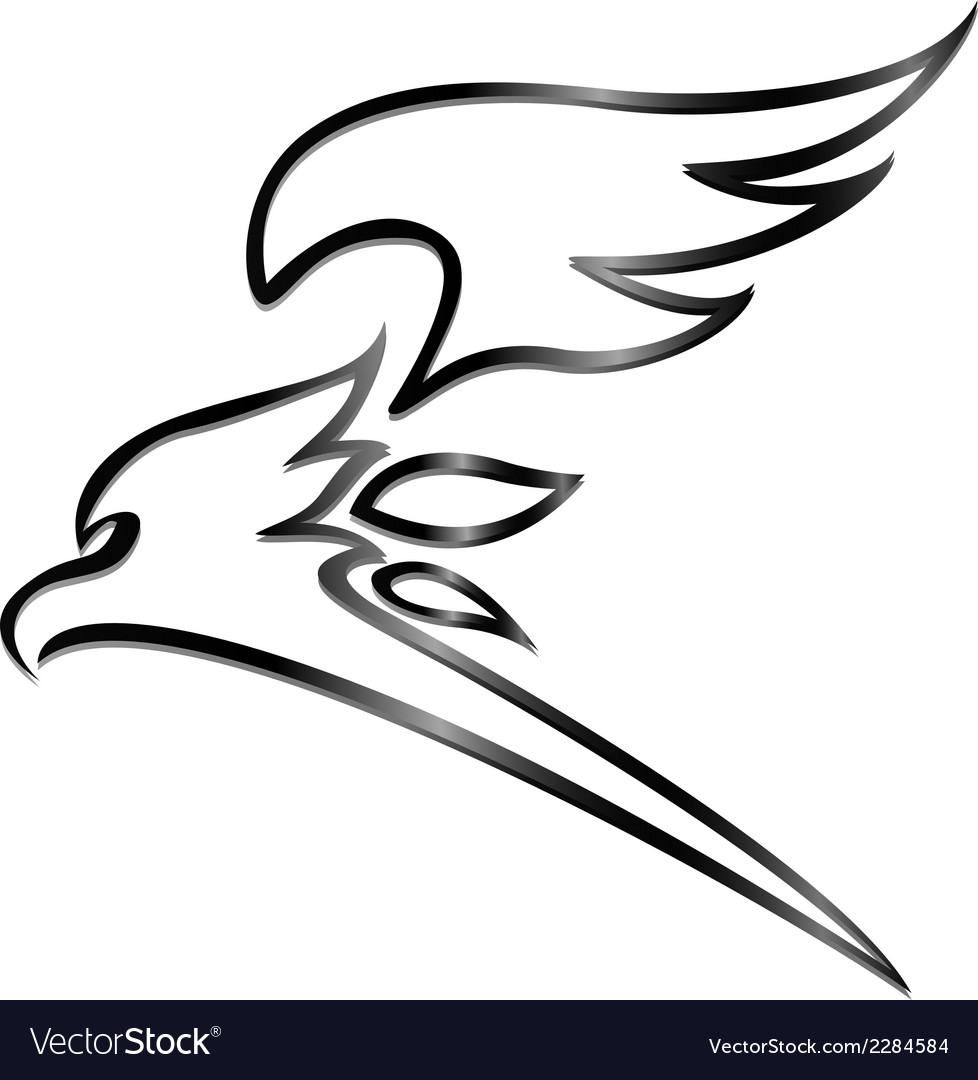 Eagle tattoo tribal vector | Price: 1 Credit (USD $1)