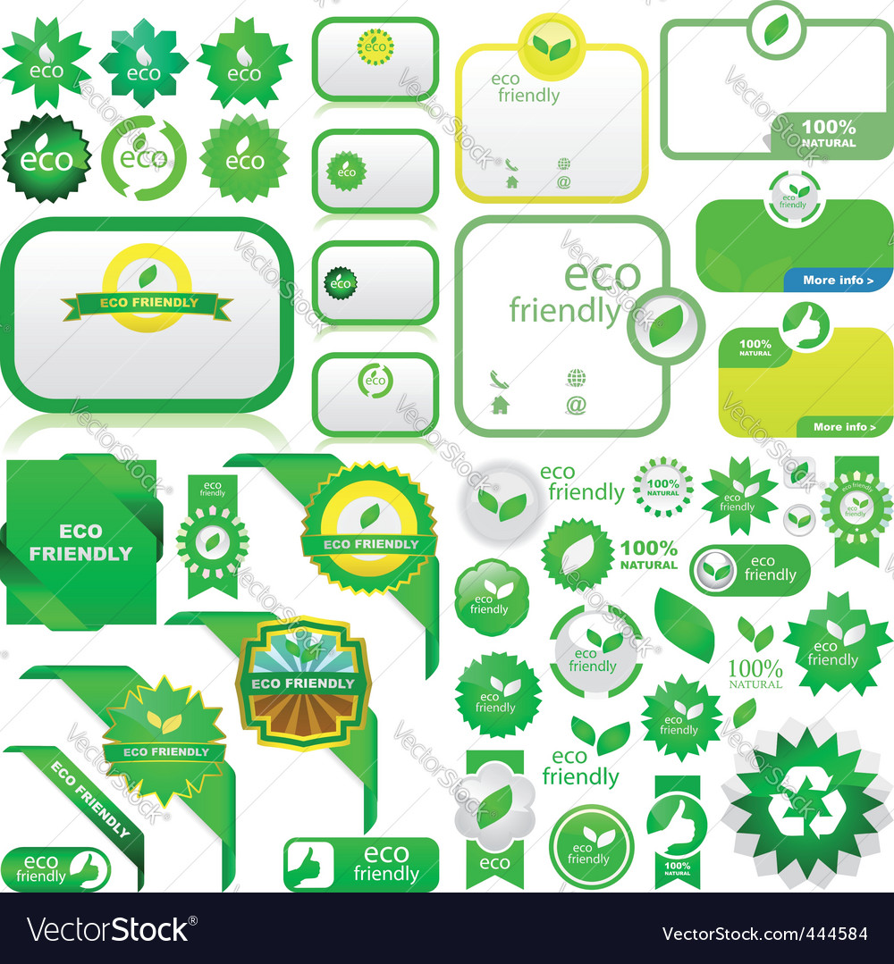 Eco elements vector | Price: 1 Credit (USD $1)