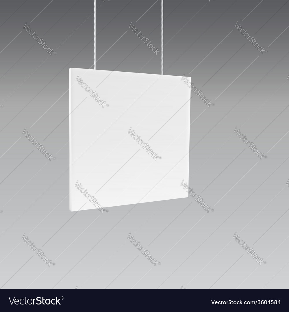 Hanging wall sign vector | Price: 1 Credit (USD $1)