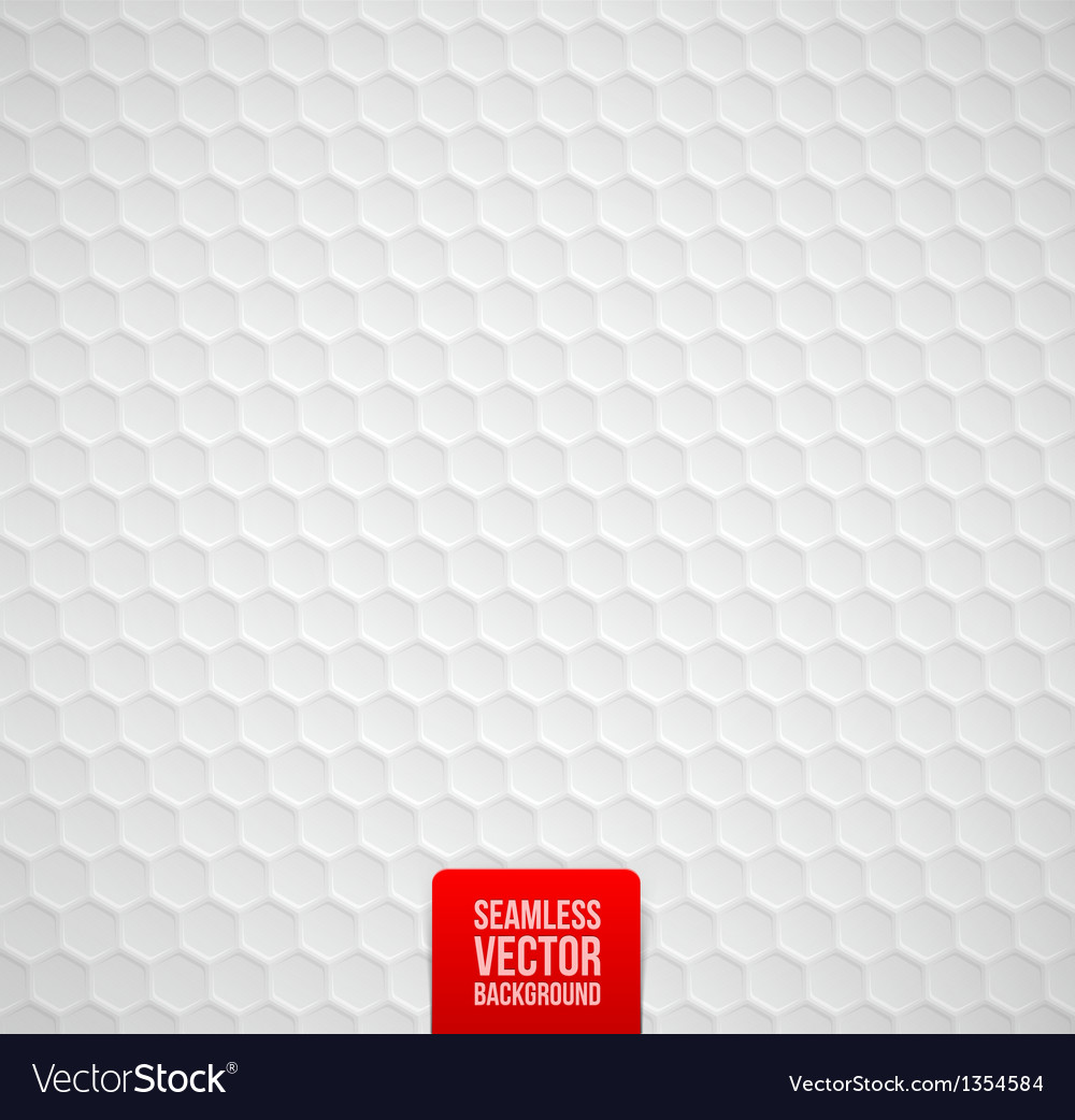 Hexagons seamless white background vector | Price: 1 Credit (USD $1)