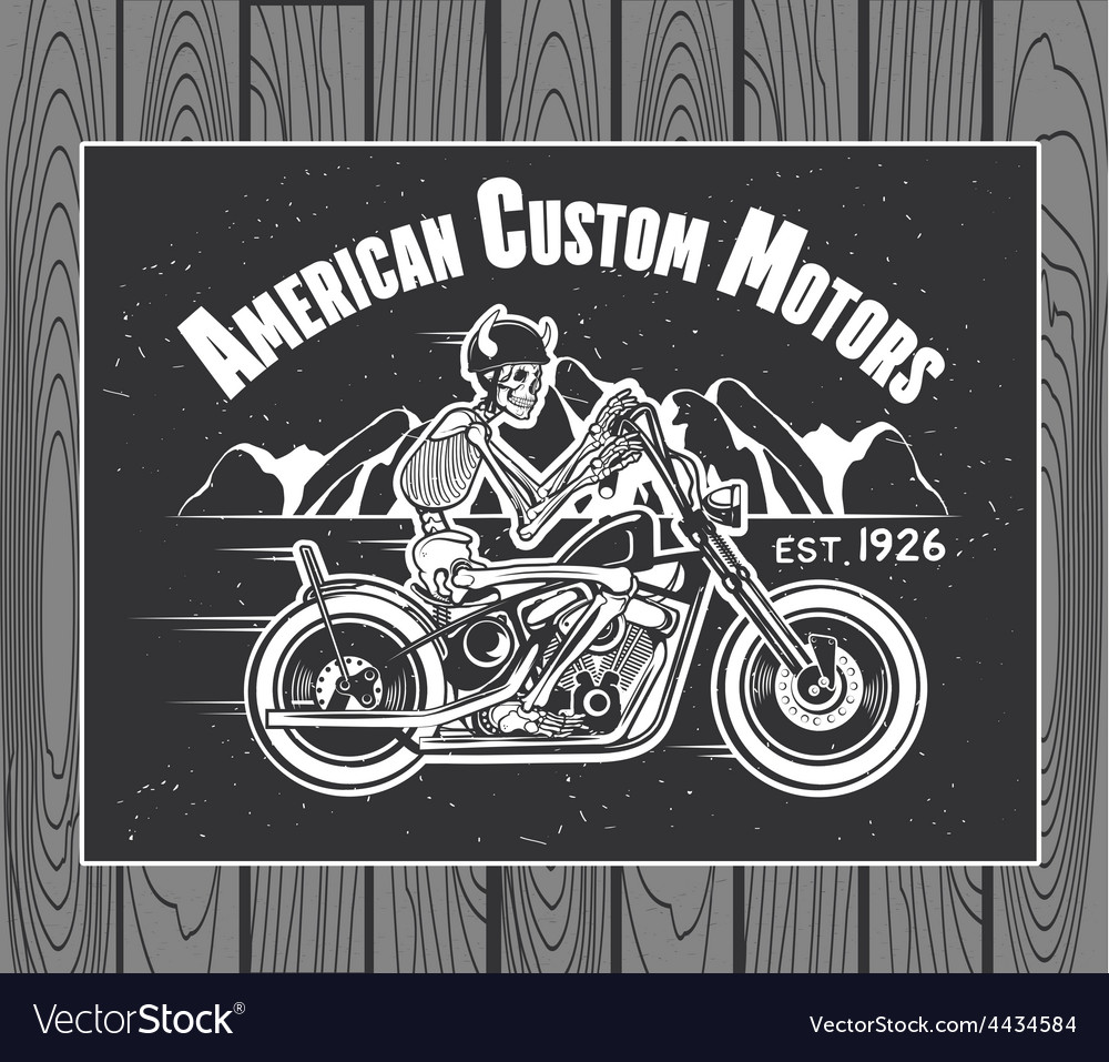 Skeleton rider motorcycle vector | Price: 1 Credit (USD $1)