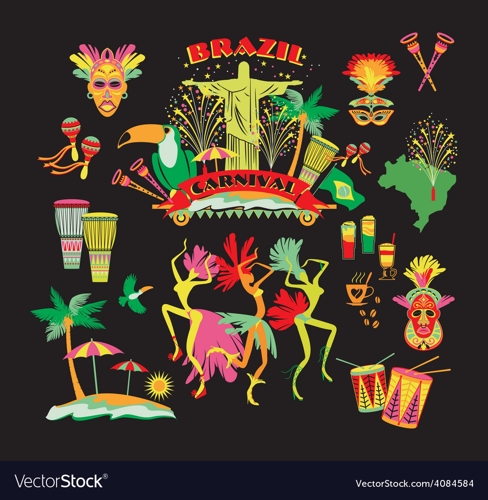 Traditional brazilian carnival vector   Price: 3 Credit (USD $3)