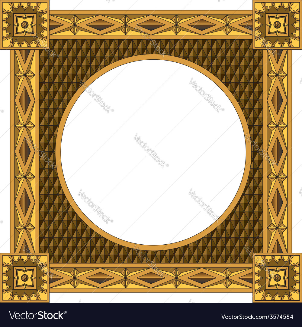 Traditional wooden frame vector | Price: 1 Credit (USD $1)