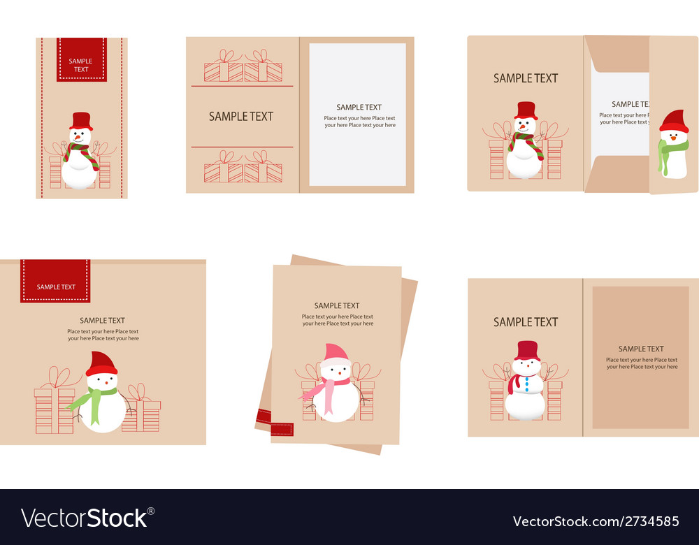 Brand identity snowman christmas retro vector | Price: 1 Credit (USD $1)