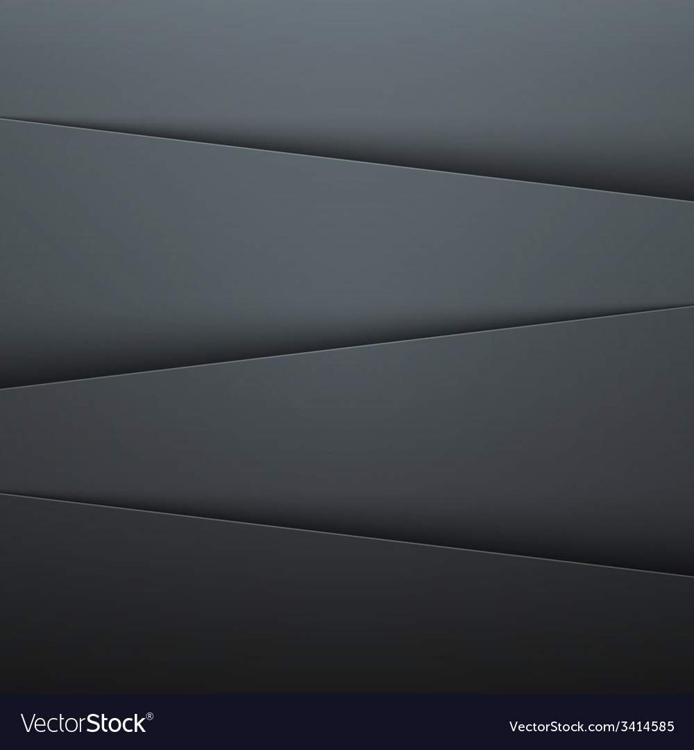 Dark grey paper layers abstract background vector | Price: 1 Credit (USD $1)