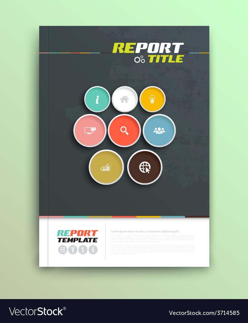 Presentation of brochure cover design template vector | Price: 1 Credit (USD $1)