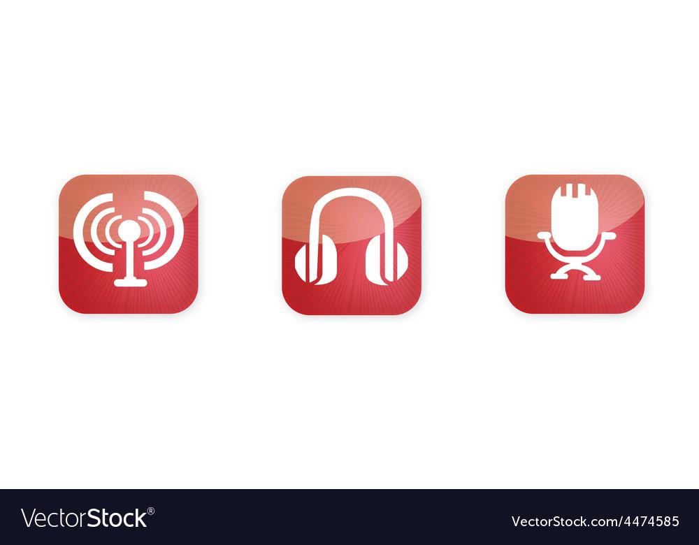 Radio icons vector | Price: 1 Credit (USD $1)