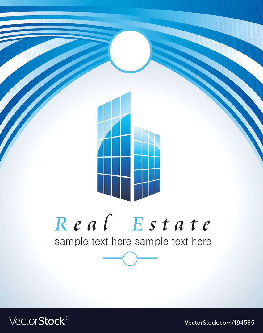 Real estate business card vector | Price: 3 Credit (USD $3)