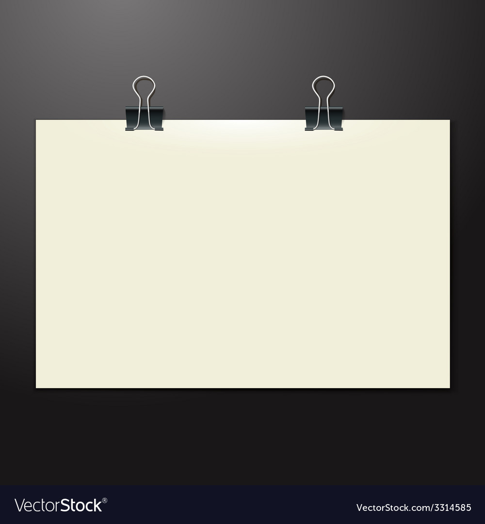 Template of a paper sheet on the wooden table vector | Price: 1 Credit (USD $1)