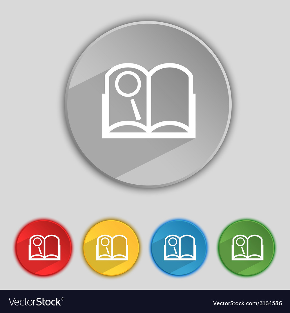 Book sign icon open book symbol set of colored vector | Price: 1 Credit (USD $1)
