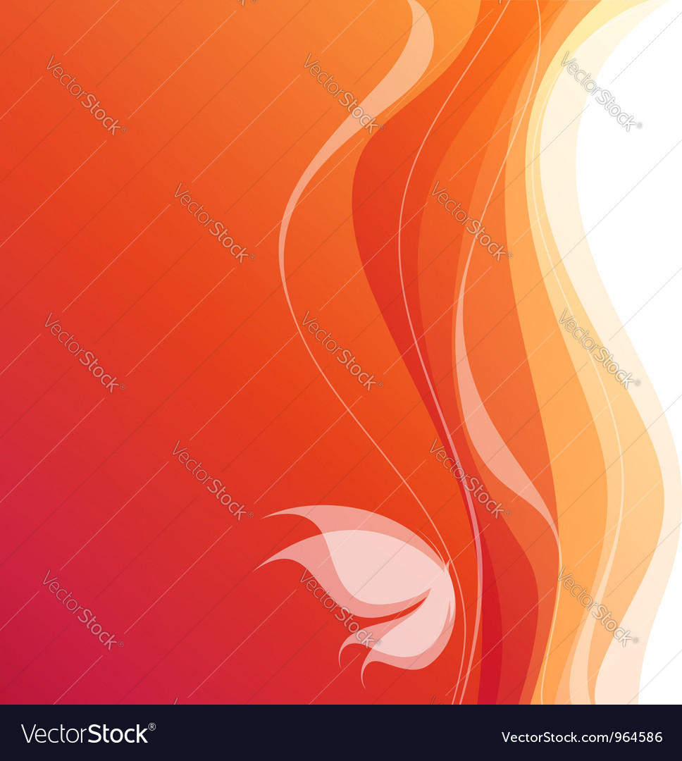 Butterfly - orange wavy background vector | Price: 1 Credit (USD $1)