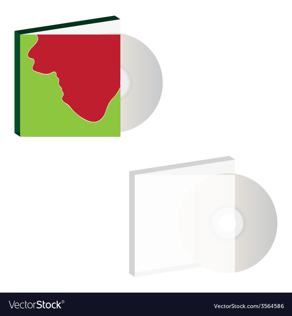 Cd with cover design vector | Price: 1 Credit (USD $1)