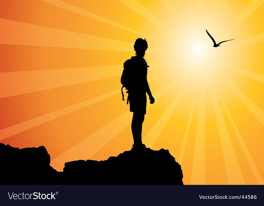 Climber silhouette vector | Price: 1 Credit (USD $1)