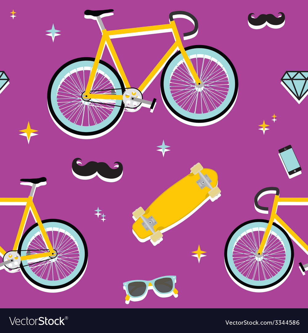 Hipster objects pattern vector | Price: 1 Credit (USD $1)