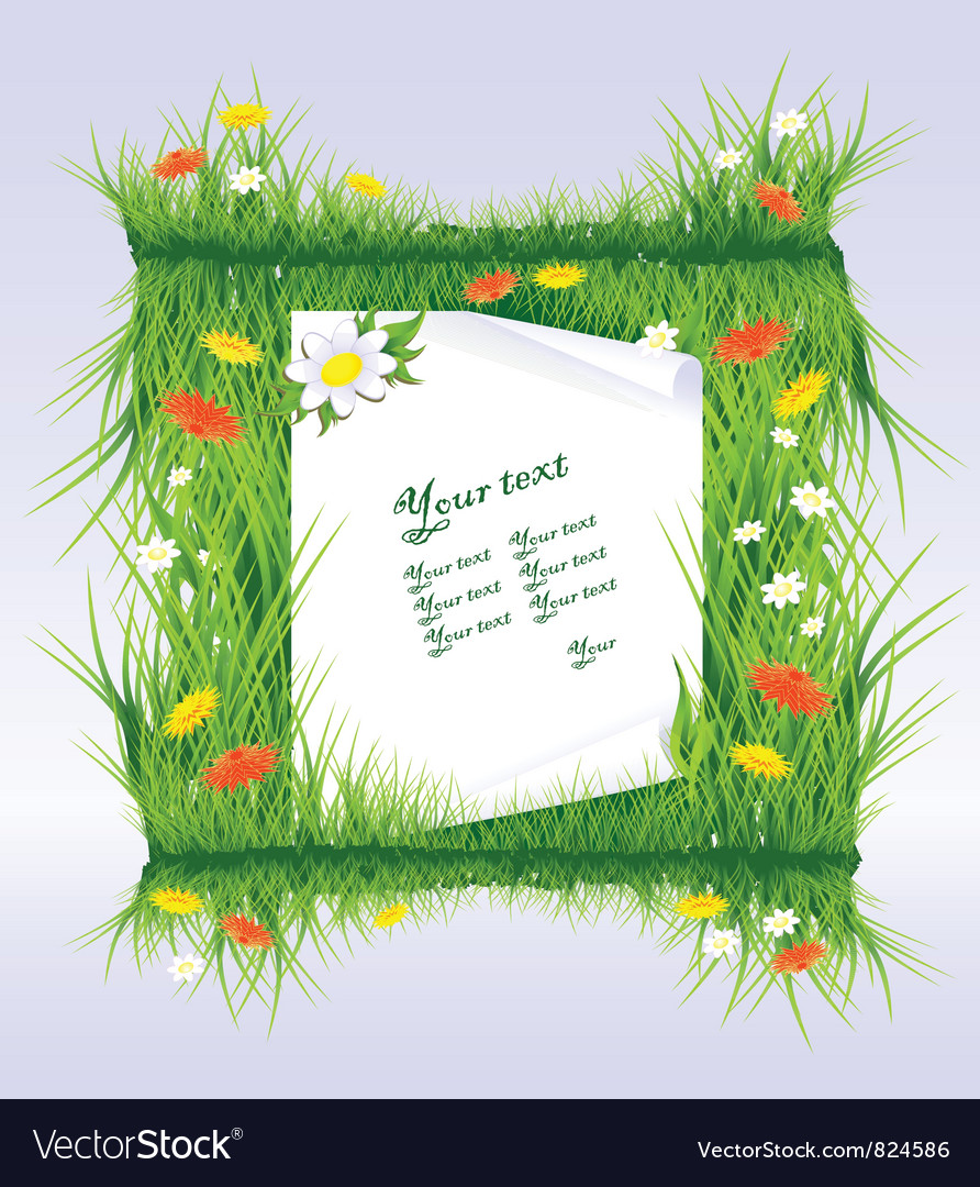 Letter in grass vector | Price: 1 Credit (USD $1)