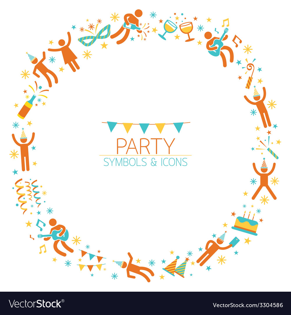 Party people wreath vector | Price: 1 Credit (USD $1)