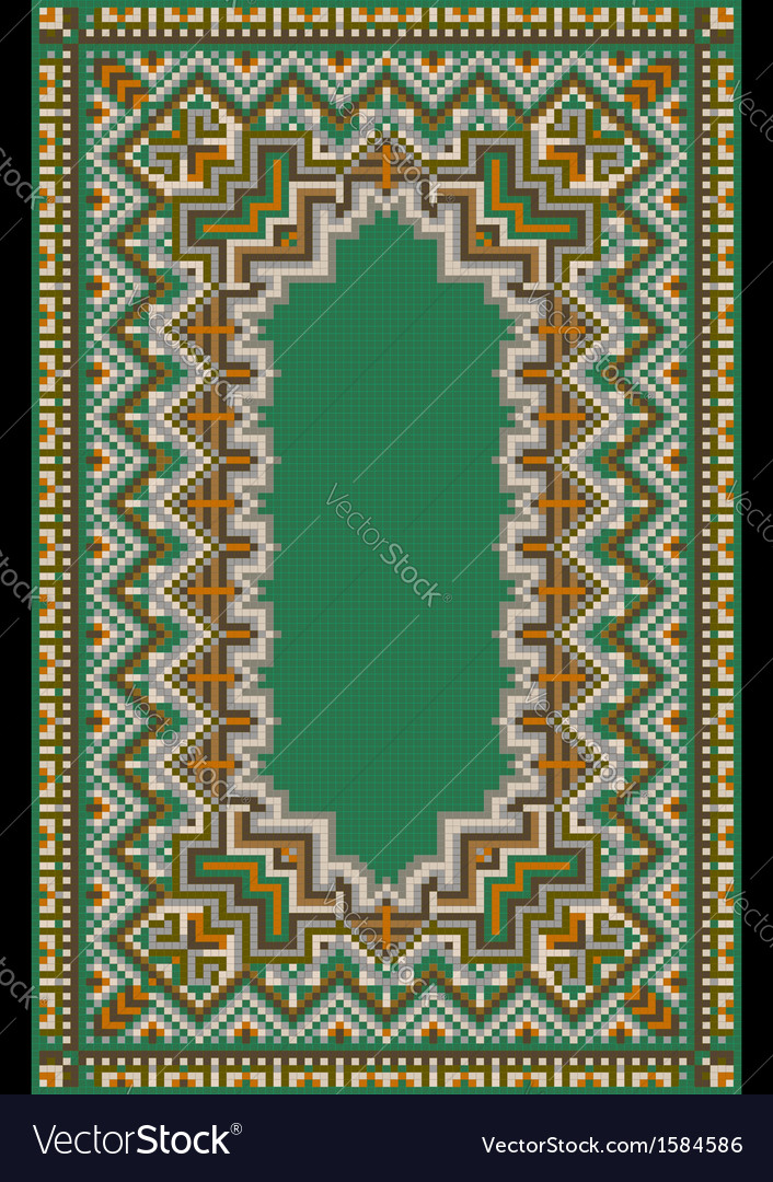Pattern for green carpet vector | Price: 1 Credit (USD $1)