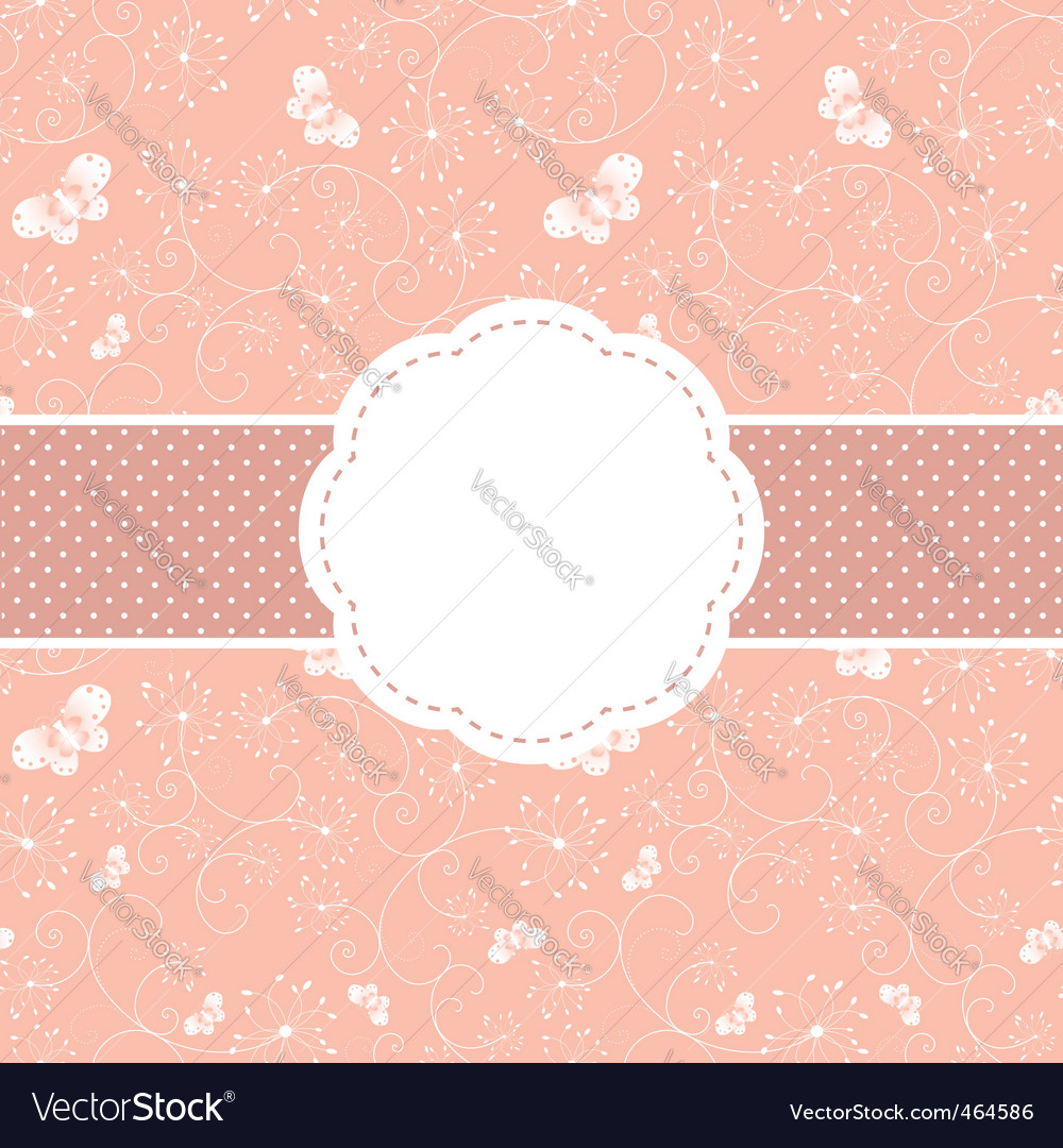 Springtime greeting card vector | Price: 1 Credit (USD $1)