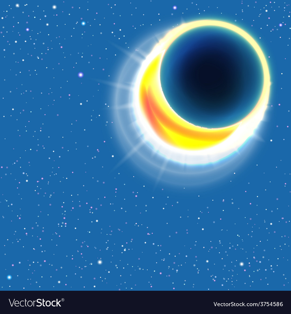 Sun eclipse vector | Price: 1 Credit (USD $1)
