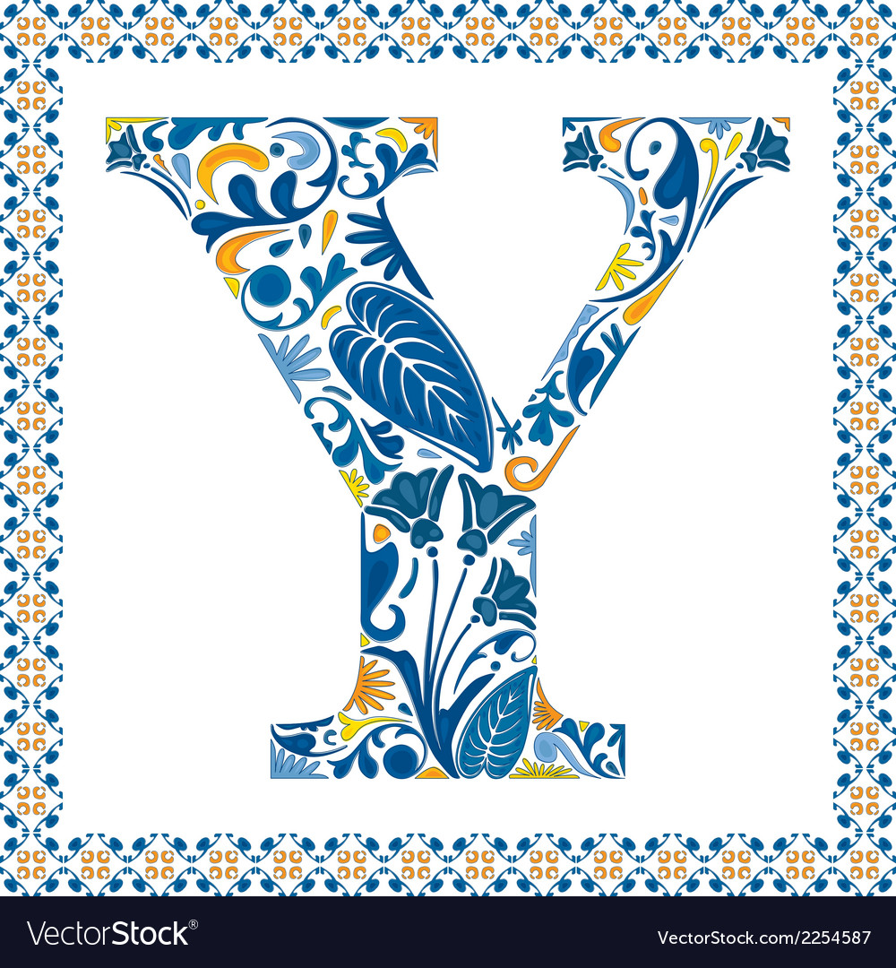 Blue letter y vector | Price: 1 Credit (USD $1)