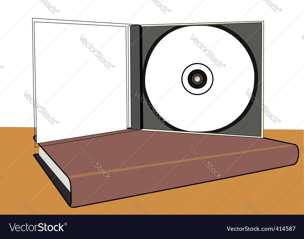 Cd and book vector | Price: 1 Credit (USD $1)