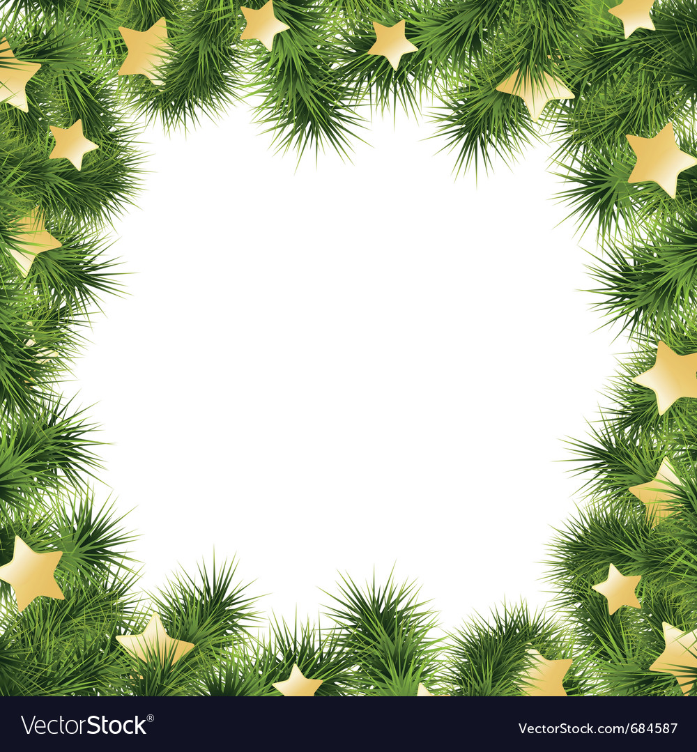 Christmas card border vector | Price: 1 Credit (USD $1)