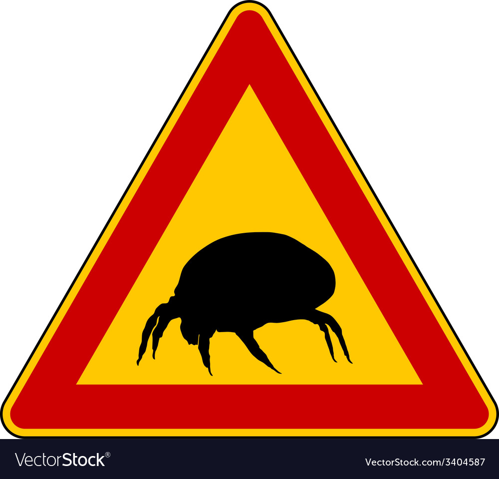 House dust mite warning sign vector | Price: 1 Credit (USD $1)