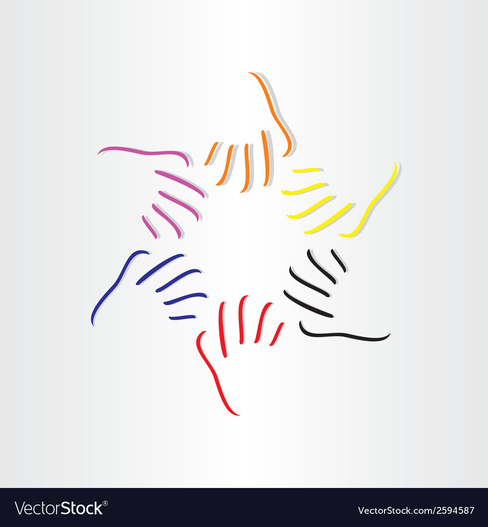 Human hands all races vector | Price: 1 Credit (USD $1)