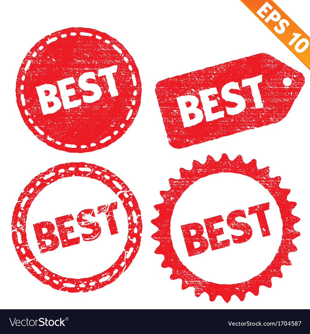 Stamp sticker best tag collection - - eps10 vector | Price: 1 Credit (USD $1)