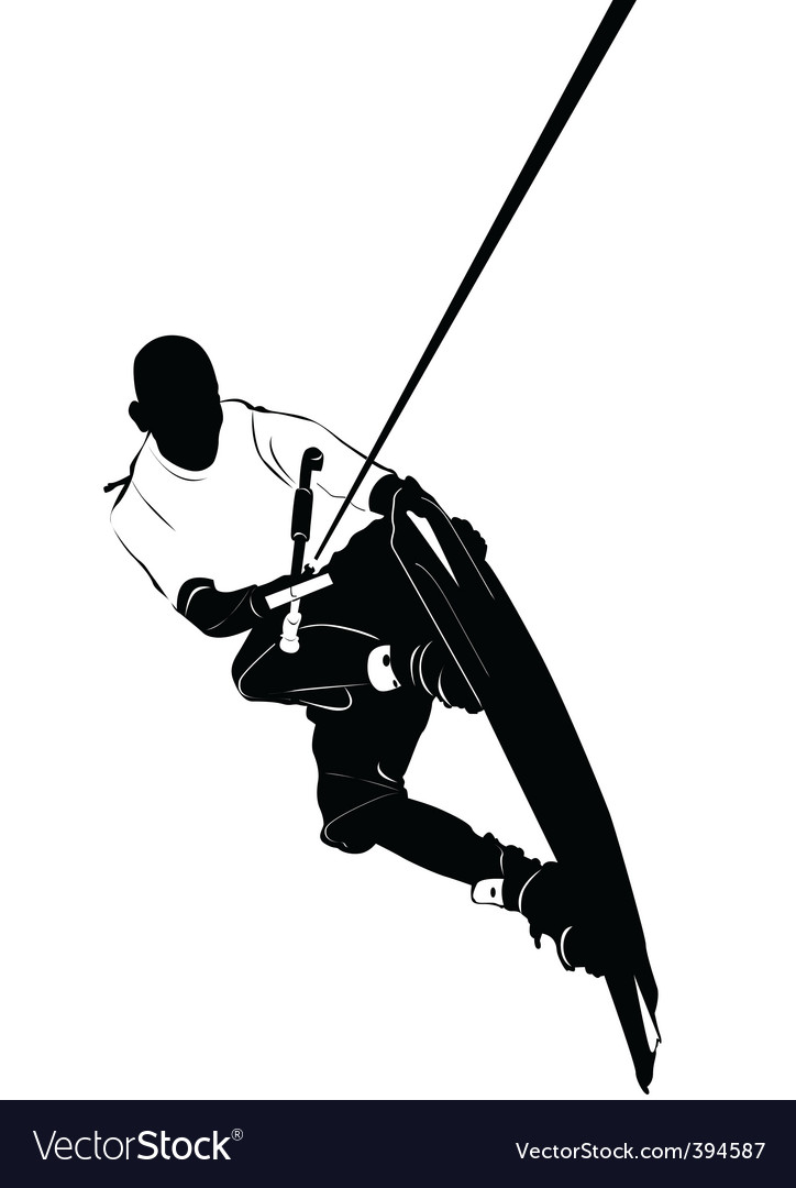 Wakeboarding vector | Price: 1 Credit (USD $1)