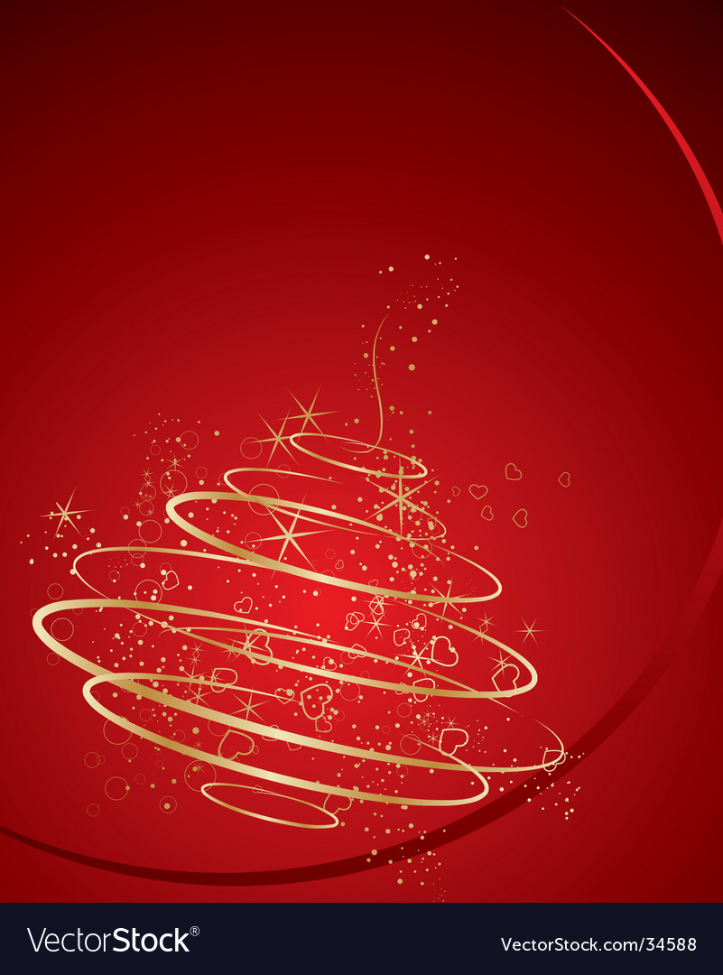 Abstract christmas decoration tree vector | Price: 1 Credit (USD $1)