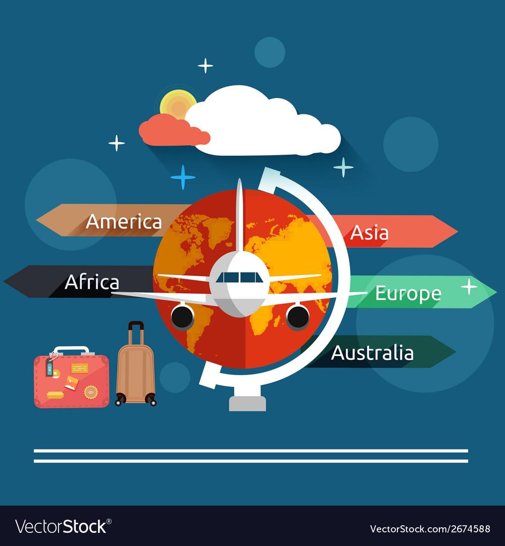 Aviator concept in flat design vector | Price: 1 Credit (USD $1)