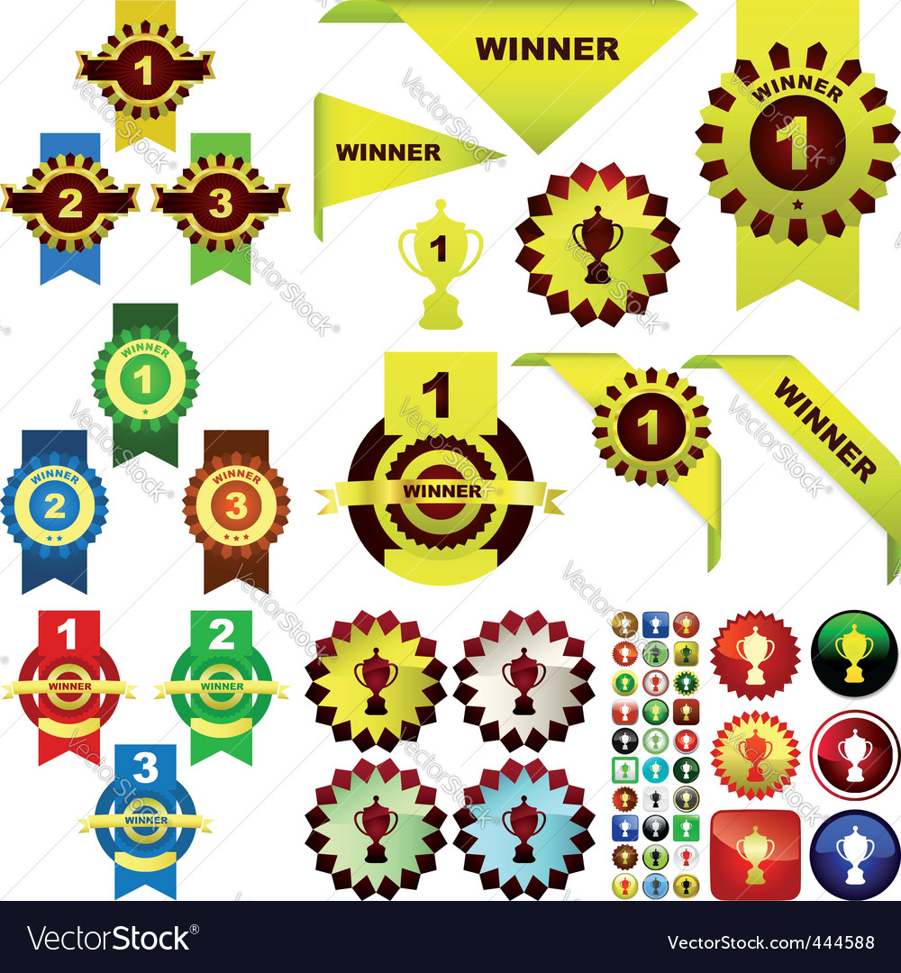 Award set vector | Price: 1 Credit (USD $1)