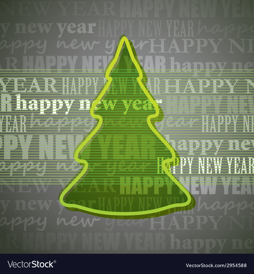 Background with christmas tree vector | Price: 1 Credit (USD $1)