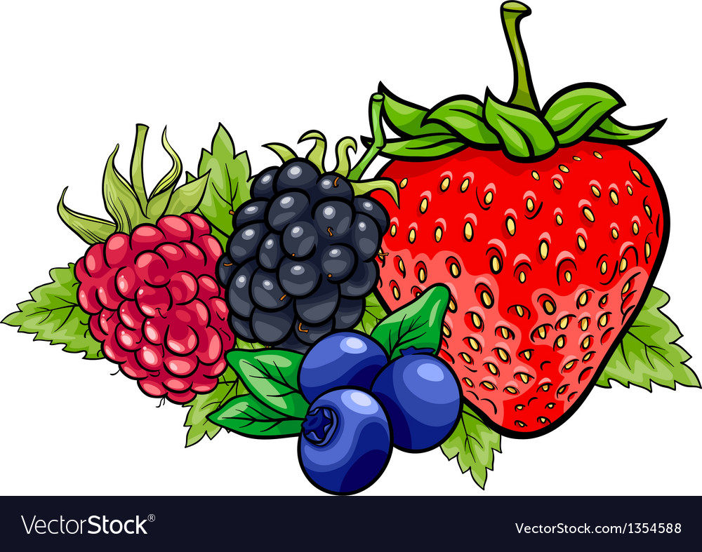 Berry fruits cartoon vector | Price: 1 Credit (USD $1)