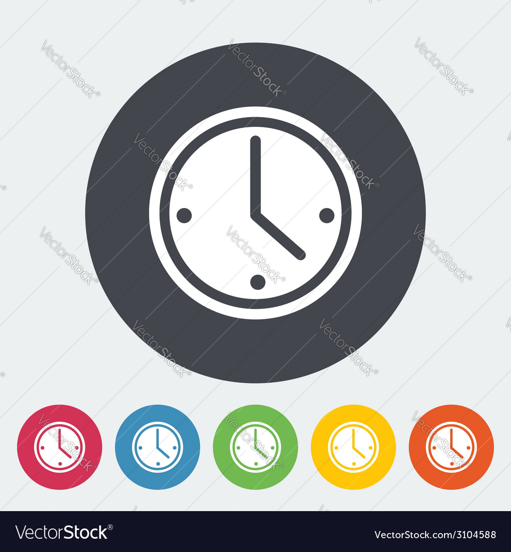 Clock icon vector | Price: 1 Credit (USD $1)