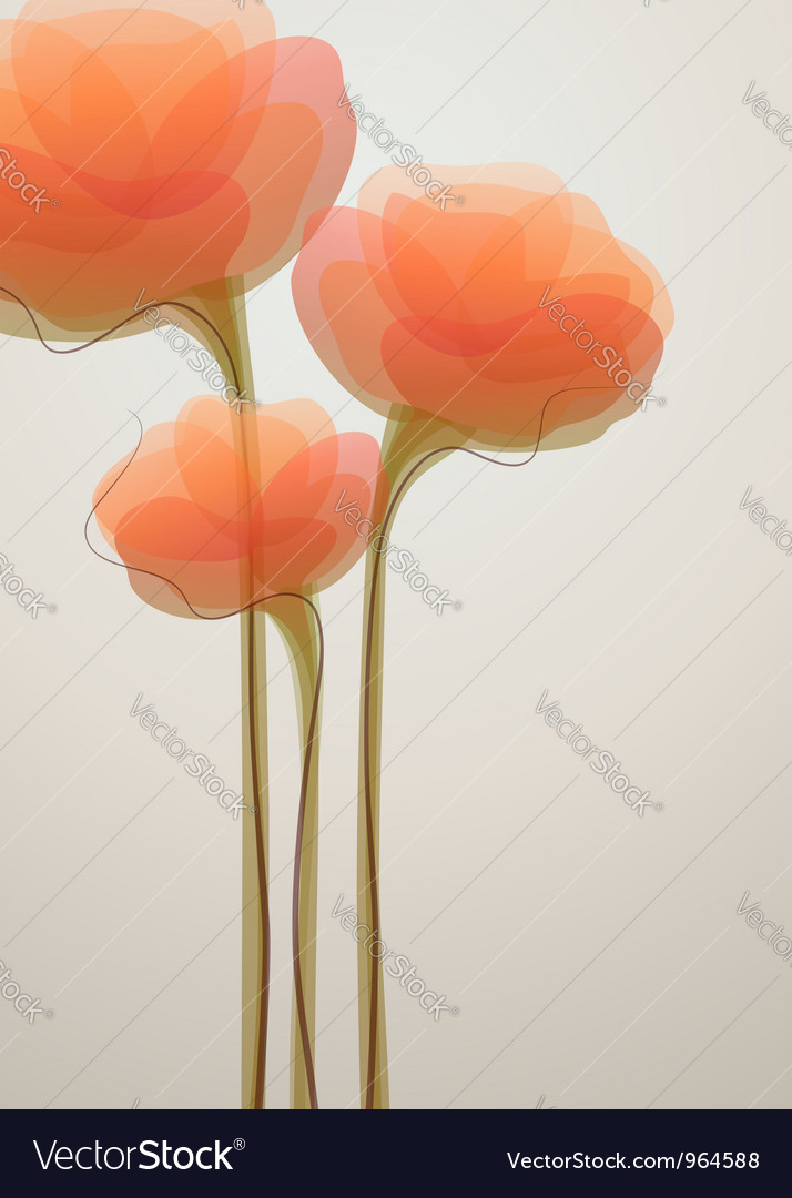 Coral flowers vector | Price: 1 Credit (USD $1)
