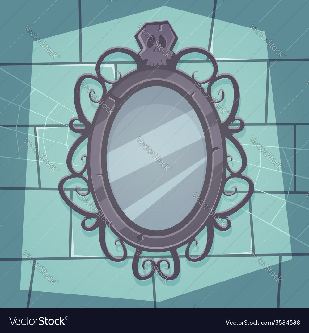 Creepy mirror vector | Price: 1 Credit (USD $1)