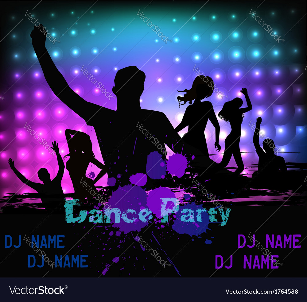 Dancing party people vector | Price: 1 Credit (USD $1)