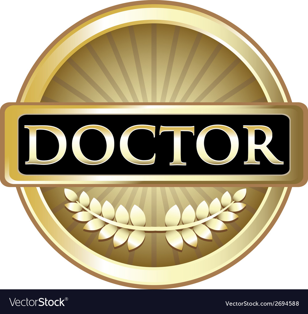 Doctor gold award vector | Price: 1 Credit (USD $1)